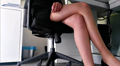 Upskirt, Secretary, Under table, Under