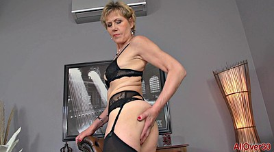Stockings, Saggy, Breast, Mature solo, Granny solo, Stockings solo