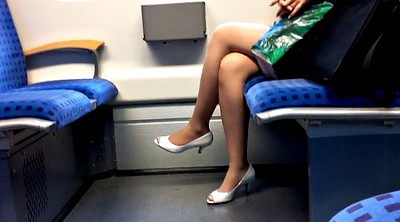Peeping, Heels, Train, Peep, Hot milf