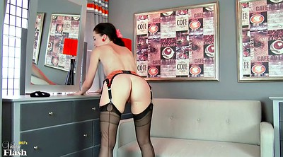 Stockings hd, Stockings solo, Slim, Milf solo