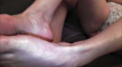 Footjob, Mature feet, Mature foot