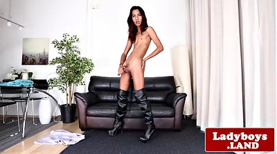 Asian ladyboy, Asian solo, Asian shemale solo