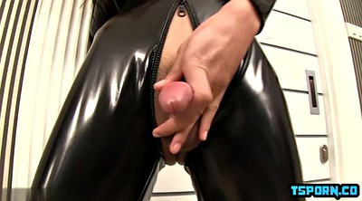 Shemale creampie, Latex bondage
