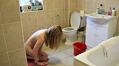 Toilet, Nude, Young girl, Solo girl, Toilets, Nude girl
