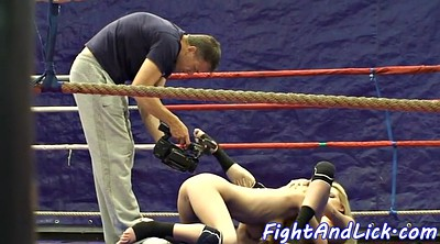 Oral, Fight, Boxing, Box, Ring, Lesbian fight