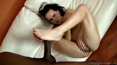 Black, Foot lick, White chubby, Black foot, Foot blowjob, Interracial chubby