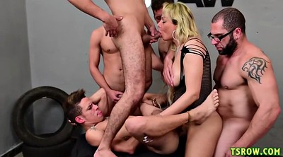 Transsexuals, Shemale gangbang