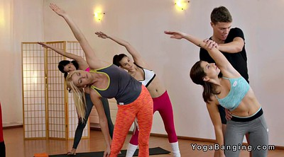 Yoga, Students, Sexy teacher, Teacher student