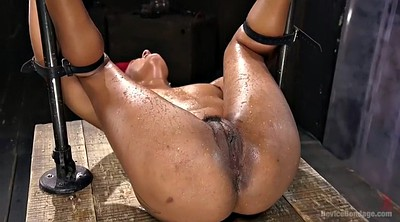 Squirting, Dungeon, Hairy fingering, Ebony bondage, Dark, Bdsm squirt