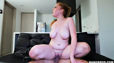 Big breasts, Riding cock, Ginger, Chubby riding
