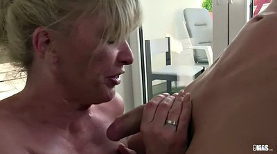 Cum in mouth, German granny