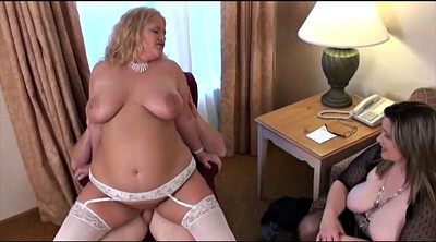 Bbw threesome, Wife watches