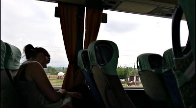 Public, Serbian, Masturbating public, Two girl, In bus, Bus flash
