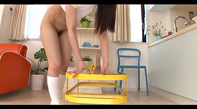 Asian dildo, Japanese panties, Yellow, Riding toy, Japanese riding