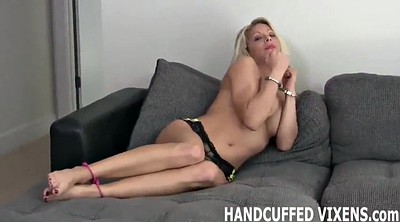 Femdom bondage, Handcuffs, Tight bondage, Metal bondage, Metal, Funny sex