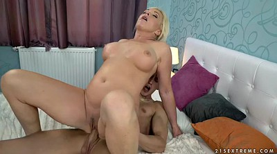 Granny licking, Blonde milf