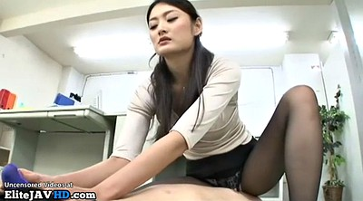 Nylon, Japanese massage, Nylon feet, Pantyhose foot, Handjob, Japanese pantyhose