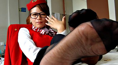 Pantyhose foot, Nylon foot, Nylon feet, Asian cam