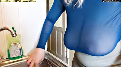 Saggy tits, Big saggy tits, Casey, Big tit maid