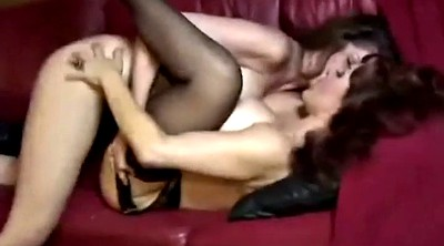 Lesbian mature, Big granny, Two-in-one