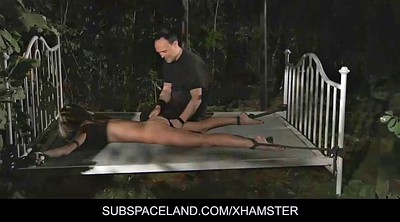 Spanked, Outdoors bondage