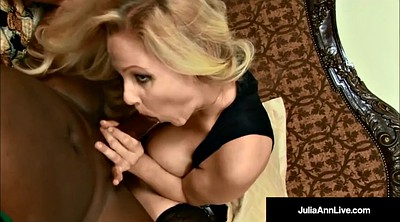 Julia ann, Pantyhose milf, Pantyhose cum, Mouthful