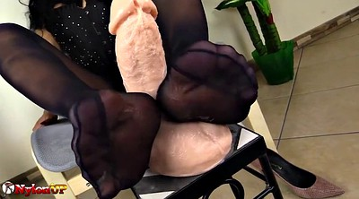 Footjob, Pantyhose feet, Black foot, Mistress t, Mistress foot, Ebony feet