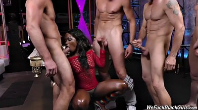 Bukkake, Fingering, Rough anal, Interracial group, Group anal, Black bukkake
