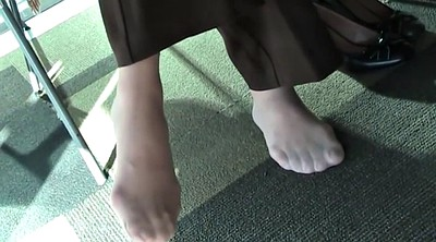 Library, Nylon feet, Foot fetish, Nylons, Footing, Fetish