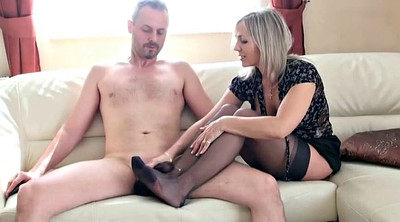 Foot job, Stockings feet, Stocking job, Stocking foot job, Stocking foot