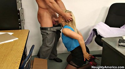 Secretary, Ashley fires, On her knees blowjob, On her knees