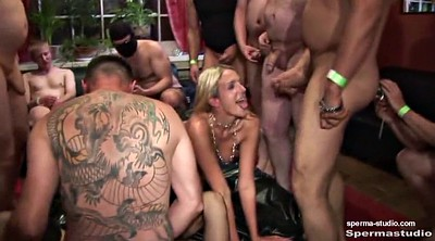 Creampie gangbang, Cum in mouth
