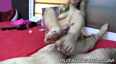 Footjob, Feet, Footjob cumshot, Huge load, Huge cum load, Cum feet