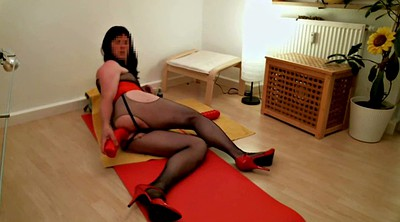 Crossdresser, Huge toy, Huge