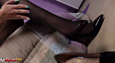 Footjob, Stockings