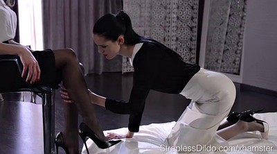 Tribbing, Pantyhose, Lesbian foot, Secretary, Pantyhose feet, Secretary foot