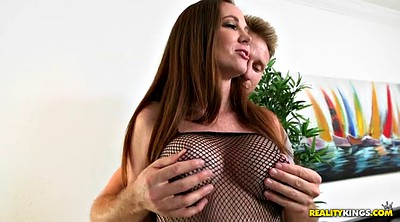 Busty mom, Fishnet