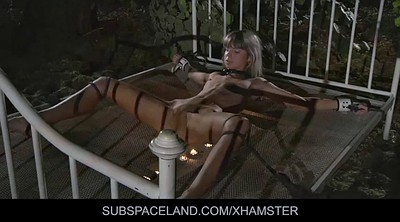 Tied up, Outdoors bondage, Young anal, Young spanking