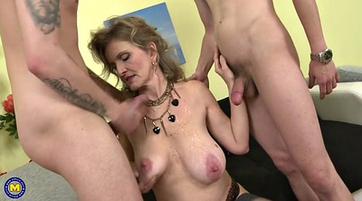 French granny, Young busty, Seduce mom, French mature