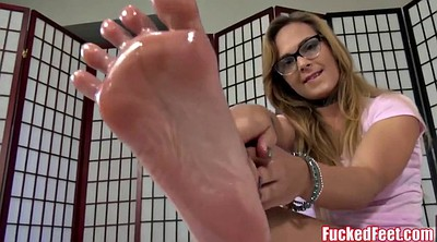 Footjob, Jenny, Teen footjob
