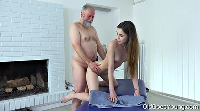 Old man, Small man, Old goes young, Mature massage, Teen tits, Hair pulling