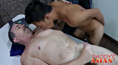 Gay office, Asian daddy, Asian boss
