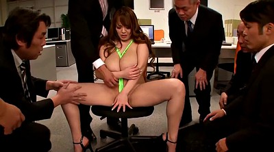 Japanese big tits, Japanese office