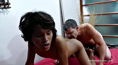 Young, Boy, Asian old, Big daddy, Old feet, Caught