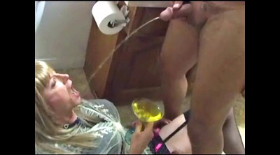 Shower, Piss swallow, Pee hole, Couple