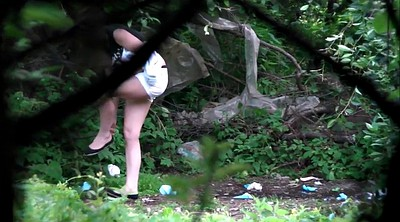 Forest, Outdoors piss, Voyeur piss, Teen pissing, Teen piss, Piss teen