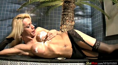 Shemale, Lingerie, Transsexual, Blonde shemale