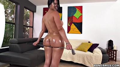 Oiled, Chubby anal, Big ass anal, Kitty, Cum on face