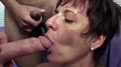 Model, Mature gangbang