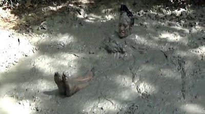 Fight, Naked girls, Mud, Cat fight